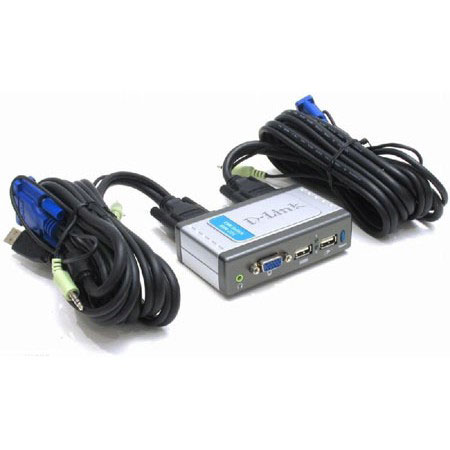 Аксессуары для ПК KVM D-Link KVM-221 2port USB w- cables w- audio, производитель D-Link Corporation (Тайвань) - фото №1
