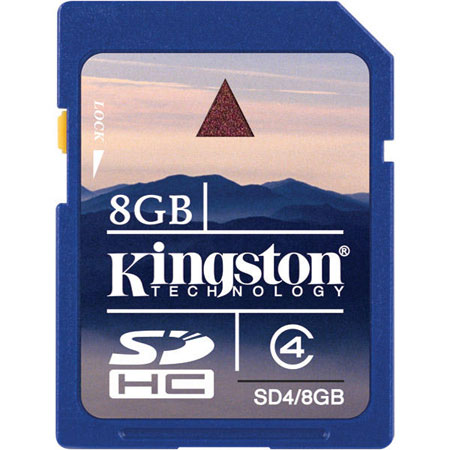 SD card Карта памяти SD Kingston 8 Gb SDHC, производитель Kingston Technology Company, Inc. (США) - фото №1