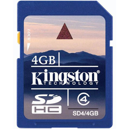 SD card Карта памяти SD Kingston 4 Gb SDHC, производитель Kingston Technology Company, Inc. (США) - фото №1