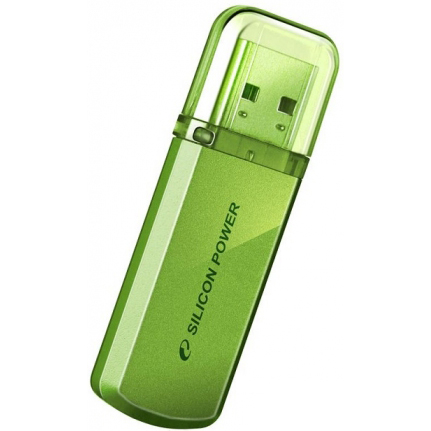 Flash-память USB Flash-память USB SiliconPower 4Gb Helios 101 Green, производитель SiliconPower - фото №1