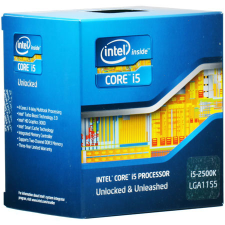 Процессоры Intel Core i5 2500k 3.3 GHz-6 Mb-95W-S1155 BOX, производитель Intel Corporation (США) - фото №1