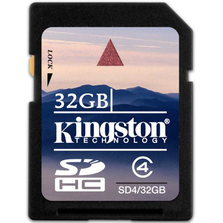 SD card Карта памяти SD Kingston 32 Gb SDHC, производитель Kingston Technology Company, Inc. (США) - фото №1