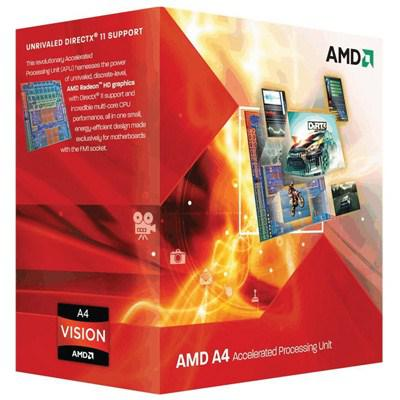 Процессоры AMD A4-5300 X2 FM2 3.4 GHz-4 Mb-65W BOX, производитель Advanced Micro Devices, Inc. (AMD, США) - фото №1