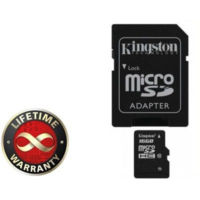 Micro SD Карта памяти microSD Kingston 16 Gb microSDHC, производитель Kingston Technology Company, Inc. (США) - фото №1