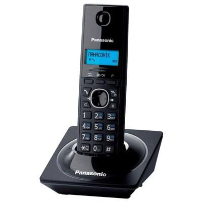 Телефоны Радиотелефон DECT Panasonic KX-TG1711UAB Piano Black, производитель Panasonic Corporation (Япония) - фото №1