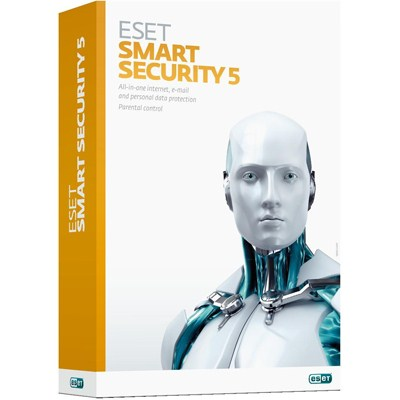 Антивирусы Антивирус Eset Smart Security v.6 Rus 1pk DVD 2 комп, производитель ESET Software (Словакия) - фото №1