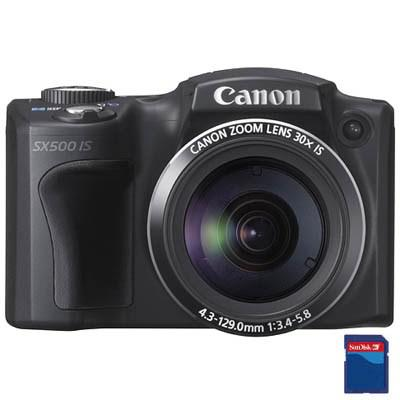 Фотоаппараты Canon PowerShot SX500is 16Mp black, производитель Canon Inc. (Япония) - фото №1