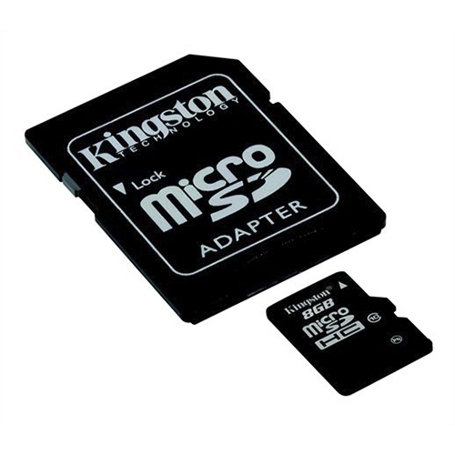 Micro SD Карта памяти microSD Kingston 8 Gb microSDHC, производитель Kingston Technology Company, Inc. (США) - фото №1