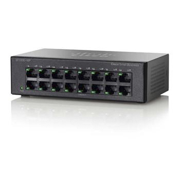 Коммутаторы Cisco Cisco SB SF100D-16P 16-Port 10-100 PoE Desktop Switch, производитель Cisco Systems, Inc. (США) - фото №1