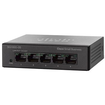 Коммутаторы Cisco Cisco SB SG100D-05 5-Port Gigabit Desktop Switch, производитель Cisco Systems, Inc. (США) - фото №1