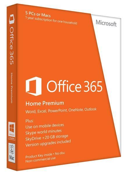 Разное ПО ПО Microsoft Office365 Home Prem 32-64 En Subscr, производитель Microsoft Corporation (США) - фото №1