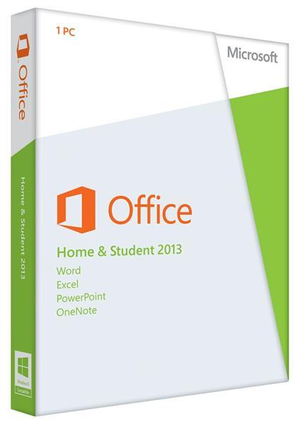 Разное ПО Microsoft Office Home and Student 2013 32-64 Russian DVD, производитель Microsoft Corporation (США) - фото №1