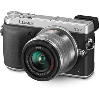 Фотоаппараты Цифр фотокамера Panasonic DMC-GX7 Kit 14-42mm Silver, производитель Panasonic Corporation (Япония) - фото №1