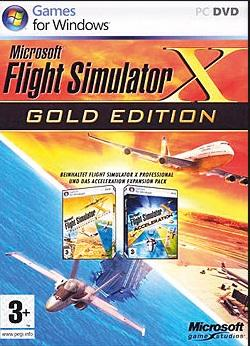 Разное ПО Microsoft Flight Sim X-Gold Win32 Russian DVD Case DVD, производитель Microsoft Corporation (США) - фото №1