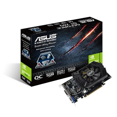 Видеокарты Видеокарта ASUS GeForce GT740 1GB DDR5 OC, производитель ASUSTeK Computer Inc. (Тайвань) - фото №1