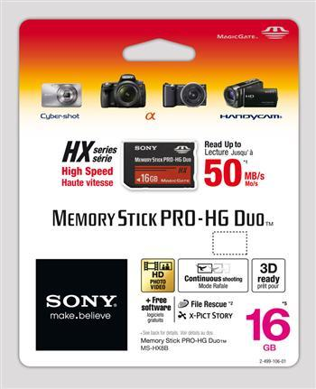 CompactFlash Карта памяти Sony Memory Stick Pro Duo HG 16GB, производитель Sony Corporation (Япония) - фото №1