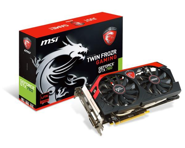 Видеокарты Видеокарта MSI Gece GTX760 4GB DDR5 TwinFrozr, производитель Micro-Star International Co., Ltd (MSI) (Тайвань) - фото №1