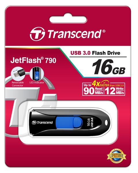 Flash-память USB Накопитель USB Transcend JetFlash 790 16GB, производитель Transcend Information, Inc. (Тайвань) - фото №1