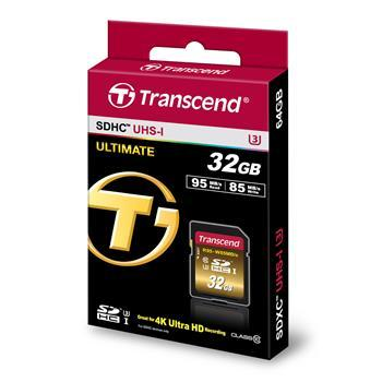 CompactFlash Transcend Ultimate SDHC 32GB Class 10 UHS-I U3 R95-W85MB, производитель Transcend Information, Inc. (Тайвань) - фото №1