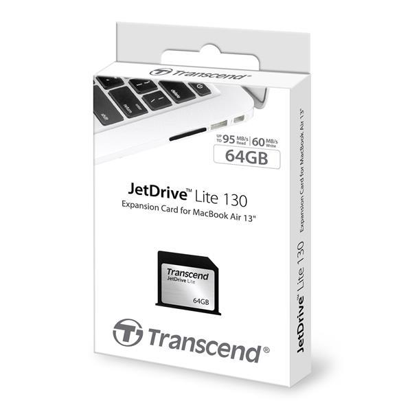 CompactFlash Transcend JetDrive Lite 64GB MacBook Air 1, производитель Transcend Information, Inc. (Тайвань) - фото №1