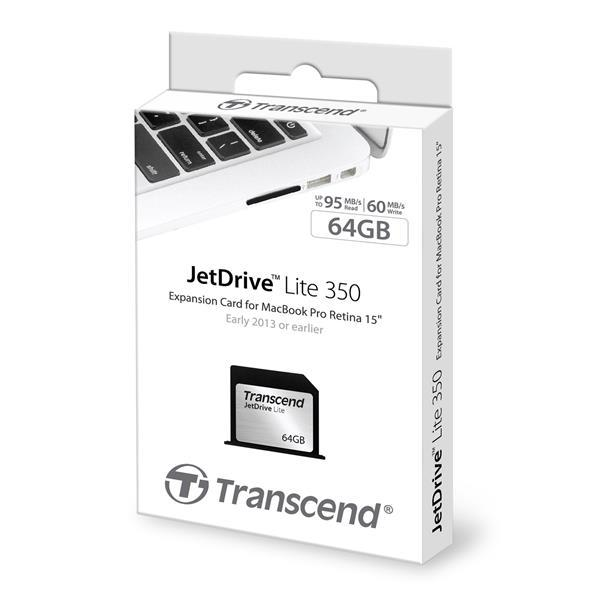 CompactFlash Transcend JetDrive Lite 64GB Retina MacBook Pro 15in, производитель Transcend Information, Inc. (Тайвань) - фото №1