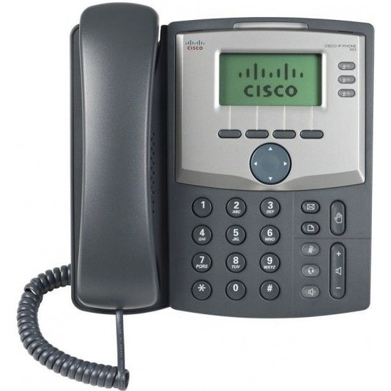 VoIP оборудование Cisco SB SPA303 3 Line IP Phone with Display and PC Port, производитель Cisco Systems, Inc. (США) - фото №1