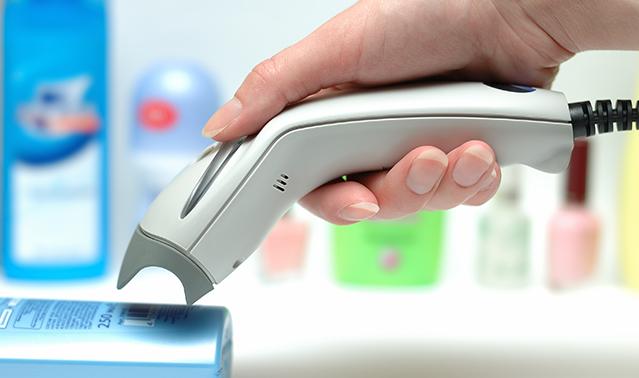 Ручной сканер штрих кода для супермаркета