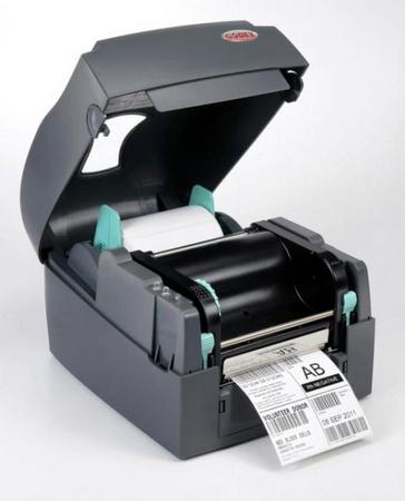 Термотрансферный принтер этикетки в открытом виде